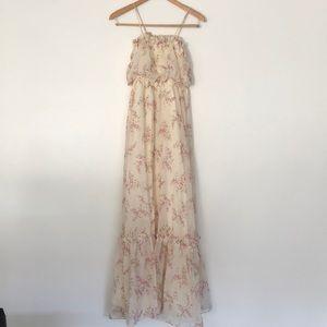 1970s Prairie Maxi Cotton Gauze Dress